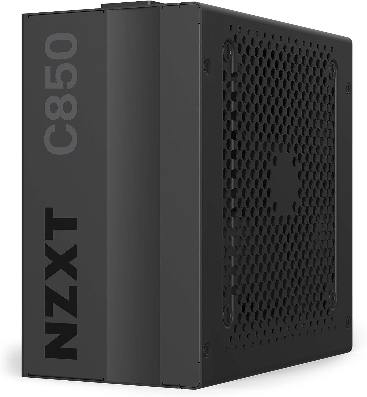 NZXT C850 - NP-C850M-EU - Fuente de alimentación de 850 vatios - Certificado 80+ Gold - Rodamientos dinámicos fluidos - Diseño modular - Cables con manguito - Fuente de alimentación ATX Gaming
