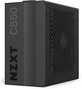NZXT C850 - NP-C850M - 850 Watt PSU - 80+ Gold Certified - Hybrid Silent Fan Control - Fluid Dynamic Bearings - Modular Design - Sleeved Cables - ATX Gaming Power Supply - 10 Year Warranty