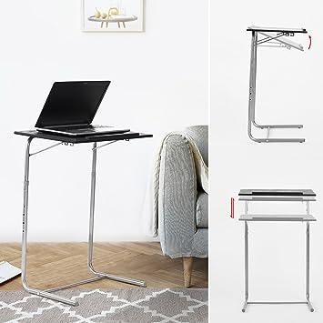 Pour Réglable Desk Pliable Fanilife PortableNoir Adjustable Table Et De Ordinateur dstrhQCxB