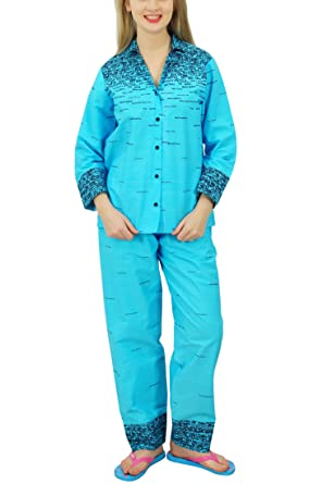 Image Unavailable. Image not available for. Colour  Bimba Button-Down Shirt  with Pajama Pants Night Wear ... d16a27633