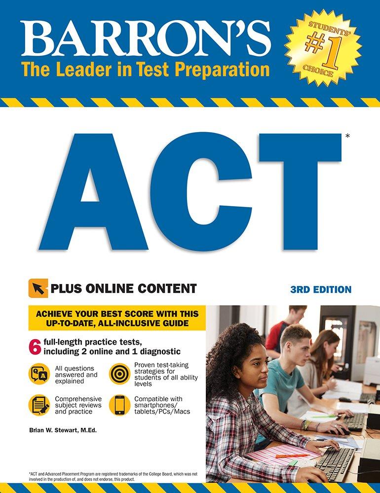 Barron's ACT, 3rd Edition: With Bonus Online
