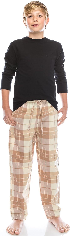 TINFL 6-14 Years Big Boys 100/% Cotton Pyjama Pjs Plaid Check Soft Lounge Pants Long Bottoms Pyjamas