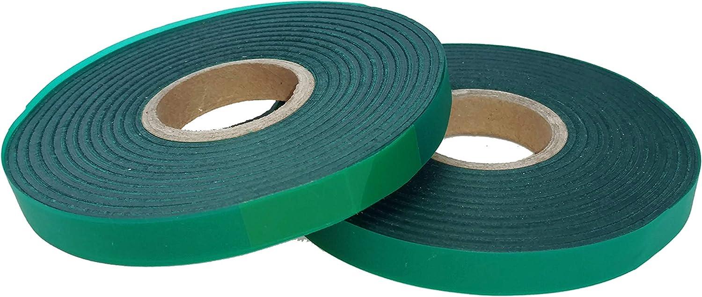 "2 Rolls//4mil 300 ft each x1//2/"" Stretch Tie Tape Plant Ribbon Garden Vinyl liston"