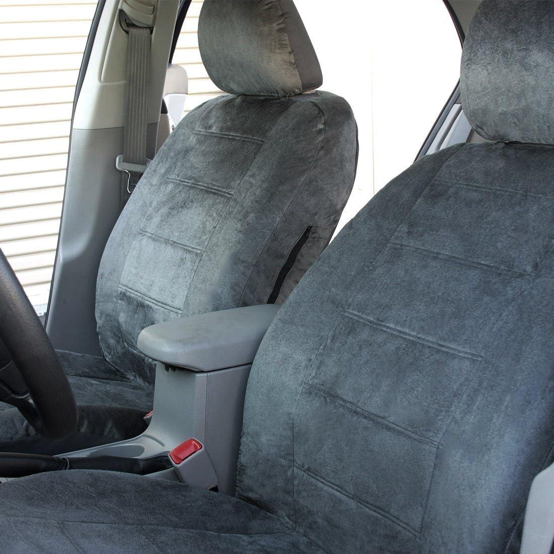FOR SUBARU PREMIUM GRADE GREY VELOUR FABRIC CAR SEAT COVERS AND MATS SET