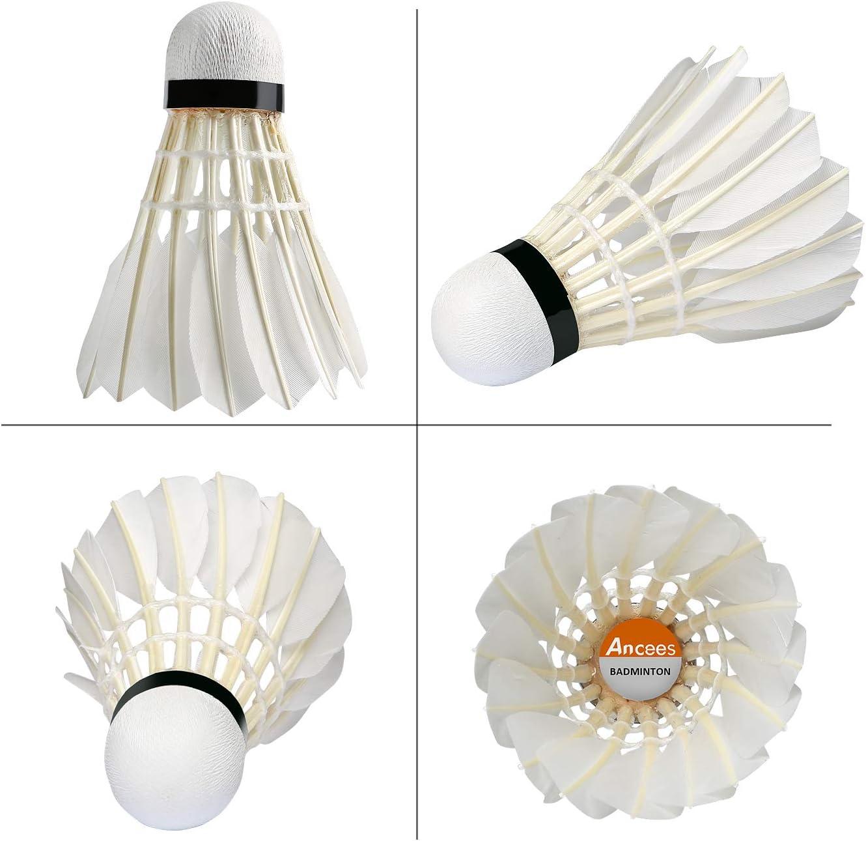 Plumes doie volants Ancees 12 paquets dentra/înement Sport Balles de badminton volants de badminton volants pour gym Fitness Jeu ext/érieur exercice