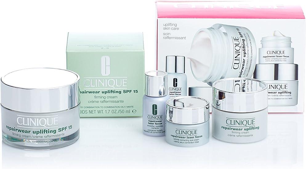 Clinique Pack Repairwear Uplifting Cream 50 ml Pieles Mixtas + Crema 15 ml + Crema Ojos 5 ml + Sérum 5 ml: Amazon.es: Belleza