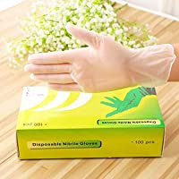 Disposable Gloves Latex Free Large,Powder-Free Vinyl Gloves for Men and Women,Safety Gloves for Kitchen Cooking Cleaning Safety Food Handling,Large Size,100PCS/Box