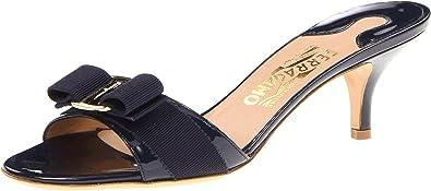 854e3de762 Salvatore Ferragamo Women's Glory Oxford Blue Patent Sandal ...