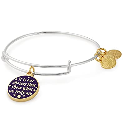 50d5c2896 Amazon.com: Alex and Ani Women's Harry Potter Its Our Choices Bangle Two  Tone Bracelet, Shiny Silver: Jewelry