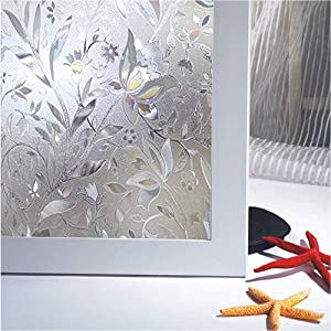 Bloss Window Film Decorative Window Films Window Clings Window Shades Window Decals Window Tint Privacy Windows Film, 17.7 by 78.7 inches