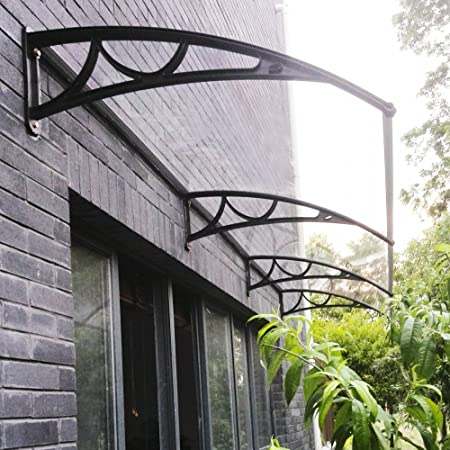 Elegant Panana 270 X 98.5CM Door Canopy Awning Shelter Roof Front Back Porch  Outdoor Shade Patio