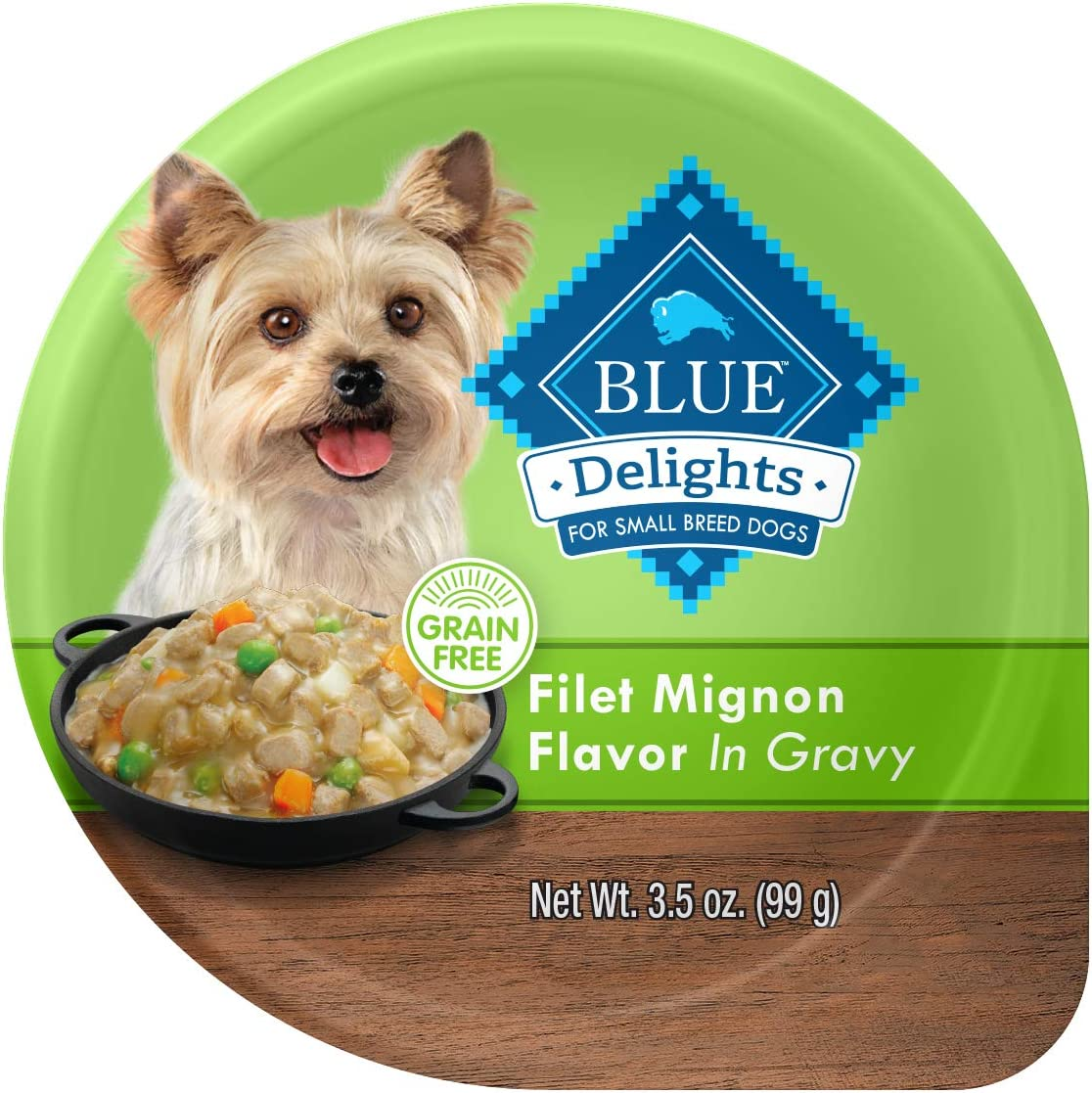 Blue Buffalo Blue Life Protection Delights Small Breed Filet Mignon Flavor in Hearty Gravy Wet Dog Food