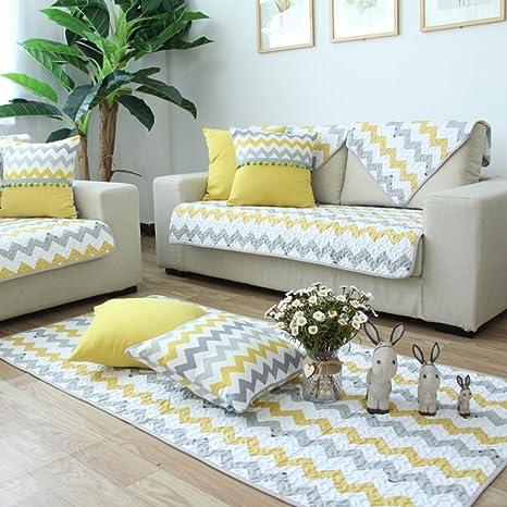 YANGYAYA Cubierta del sofá del algodón del,Ropa de Rayas ...