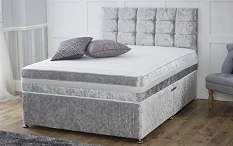 2f7f6d578c3d Image Unavailable. Image not available for. Colour: Smartslumber Crushed  Velvet Divan Bed Base ...