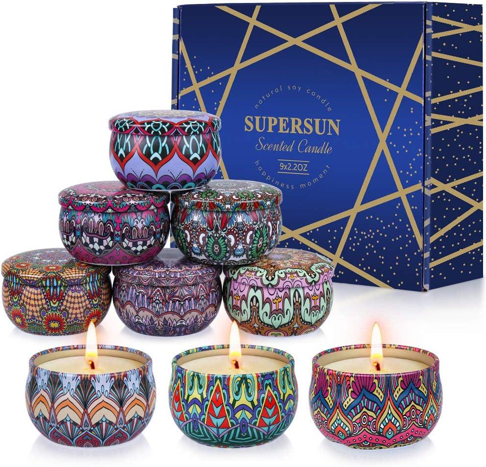 Lavendel Hochzeiten und Weihnachten Sojawachs Sch/öne Kerzen Duftkerzen Set mit Angenehmer Duft f/ür Aromatherapie Geschenkset f/ür Frauen VICBAY 9 St/ück Duftkerze Vanille