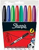 Papermate S0814660 Sharpie Fine Marcatore Permanente, Assortiti, Tonda, 1 mm, Confezione da 8