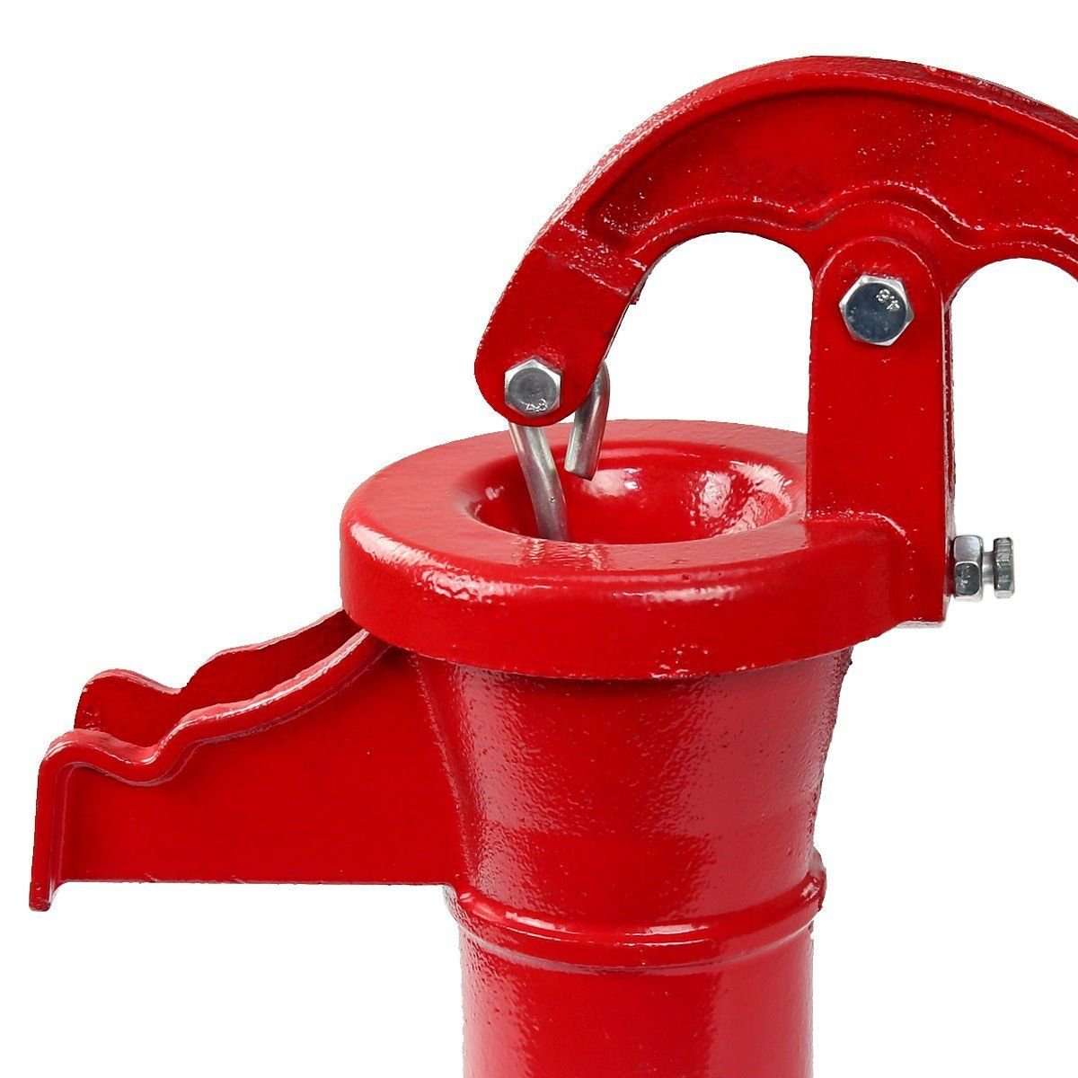 COLIBROX--New Antique Style Heavy Duty Cast Iron Red Well Hand Operated Pitcher Pump 25 Ft. Designed for rugged long life service All parts are made from close grain cast iron for optimum strength. by COLIBROX (Image #3)