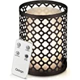 Odoga Aromatherapy Essential Oil Diffuser, 100 ml Ultrasonic Quiet Cool Mist Humidifier with Warm White Color Candle Light Effect, Decorative Iron Cover, Remote Control & Low Water Auto Shut-Off