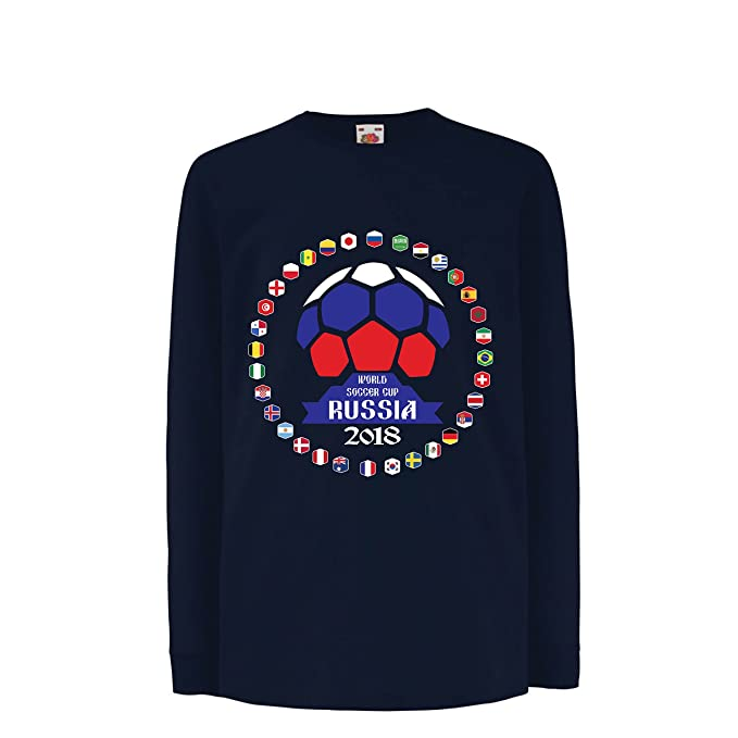 lepni.me Camiseta para Niño/Niña Las 32 Banderas del Equipo de Fútbol Nacional - Copa del Mundo de Fútbol de Rusia 2018: Amazon.es: Ropa y accesorios