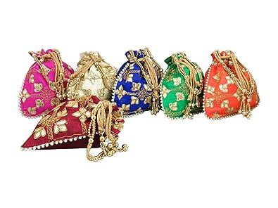 GoldGiftIdeas - Bolsitas de pote decoradas con perlas y asa ...