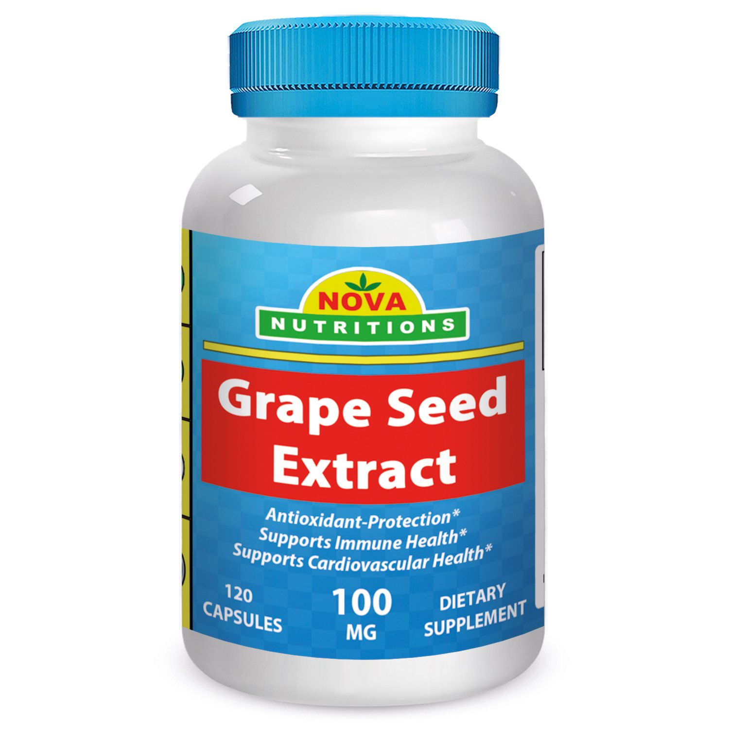 Grape Seed Extract 100 Mg 120 Capsules By Nova Nutritions 6