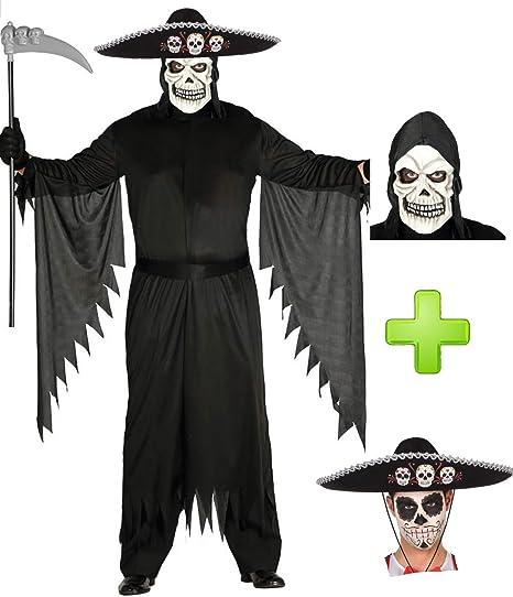 Disfraces Halloween Disfraz de Muerte Mejicana: Amazon.es: Ropa y ...