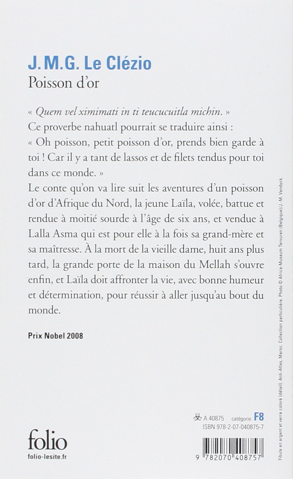 Poisson D'or (french Edition): Jeanmarie Gustave Le Clezio: 9782070408757:  Amazon: Books