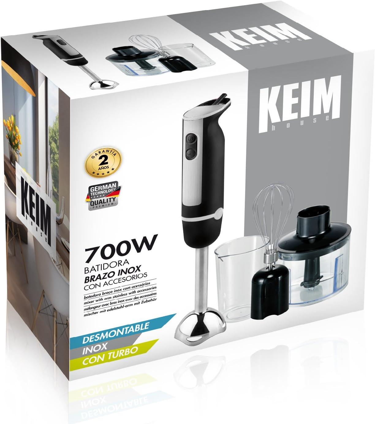 Keim House 33661 Batidora con brazo inox, 700W, 700 W, Blanco y ...