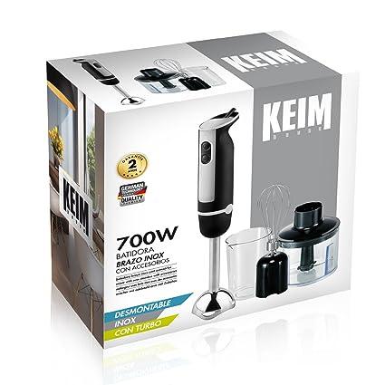 Keim House 33661 Batidora con Brazo INOX, 700W, 700 W, Blanco y negro: Amazon.es: Hogar