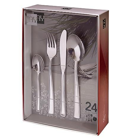 Jay Set de cubertería con 24 Piezas, mm, Centimeters