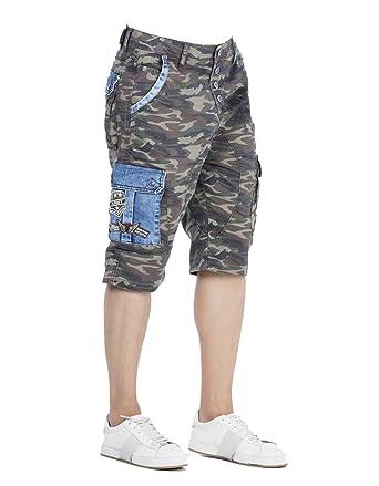 Cipo   Baxx Herren Freizeit Bermuda Herren Shorts Kurze Hose in Regular Fit  aus Baumwolle 29 39ef24bd8d