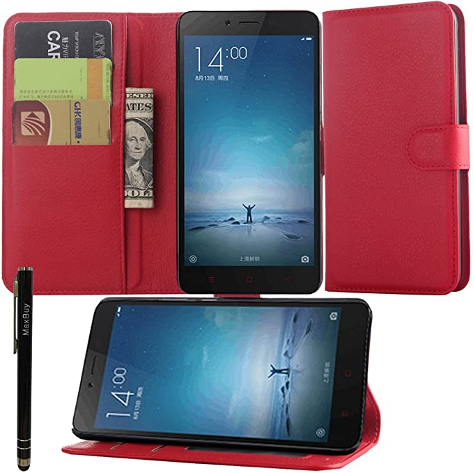 Xiaomi Redmi Note 2 MaxBuy cartera, piel customizados atril tipo ...