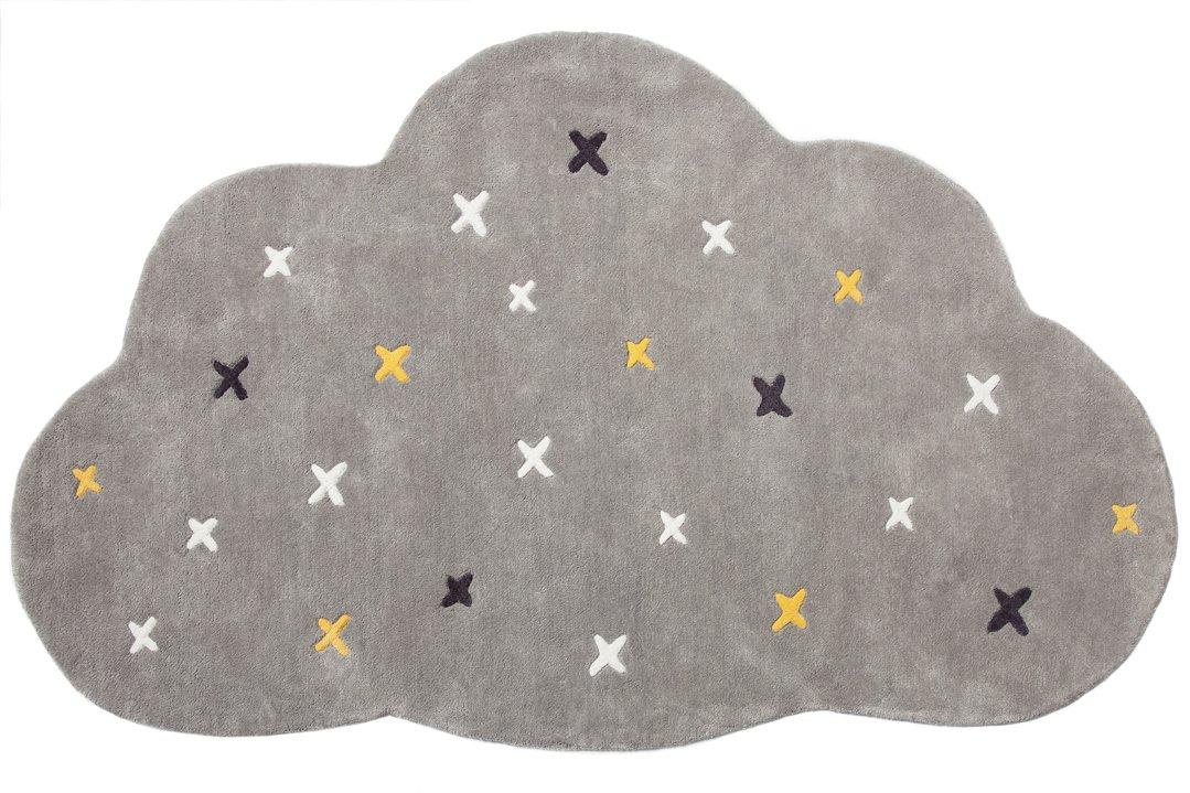 Noukies BB1850.82 Timeless Teppich Wolke aus Baumwolle, grau