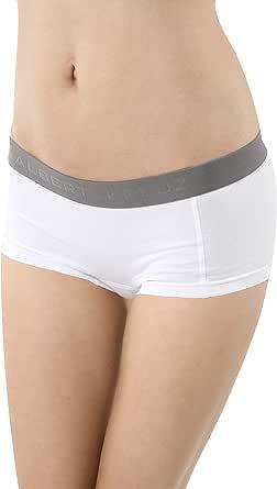 ALBERT KREUZ Braga Culotte Boxer Mujer de algodón elástico Blanco ...
