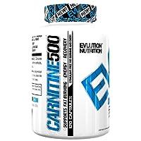Evlution Nutrition Carnitine500 500 mg reines L-Carnitin pro Portion (120 Portionen, Kapsel)