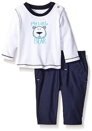 3182cffbe4c5c Amazon.com  absorba Baby Boys  My Little Bear Pant Set