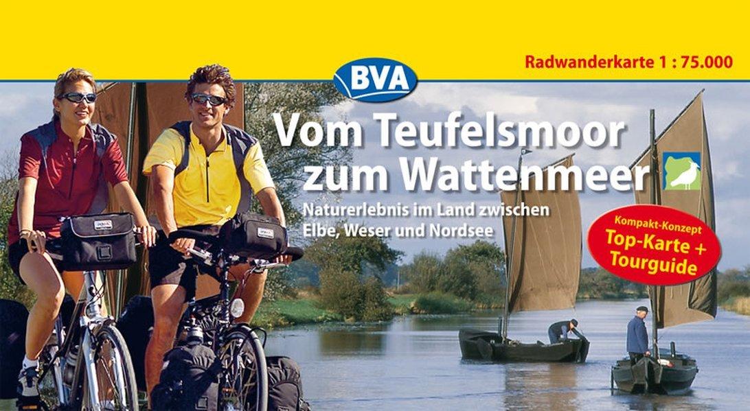 Vom Teufelsmoor Zum Wattenmeer Kompakt Spiralo Radwanderkarte 1   75 000