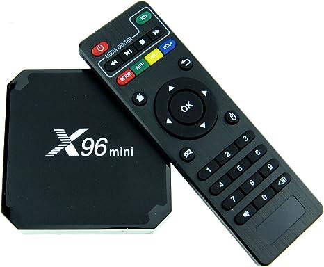laion x96 Mini 4 K Android Smart TV Box amlogic905 W Android 7.1/Kodi 17.6/Quad Core 1 G 8 G/4 K/HDMI/2.4 GHz WiFi: Amazon.es: Informática