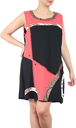 Miss Rouge Robe Tunique Grande Taille 46 48 50 52 Amazon Fr Vetements Et Accessoires