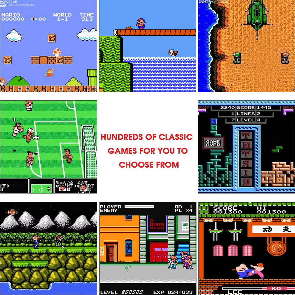 MEEPHONG Retro Game Console, HDMI HD Built-in 821 Classic Video Games by MEEPHONG (Image #3)