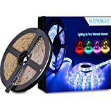 SUPERNIGHT LED Strip Light, RGBW, Waterproof 16.4ft 5050 300leds LED Strip Flexible Light, RGB with White Mixed Color…