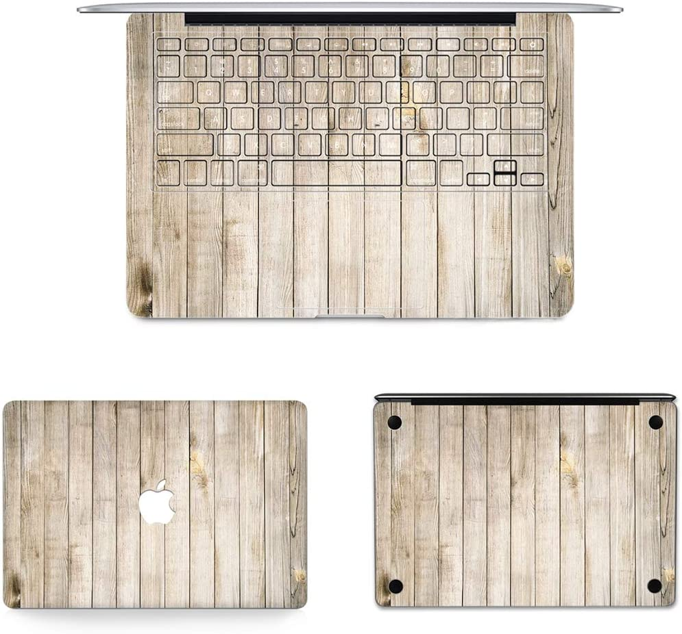 // A1369 2010-2012 Bottom Film Set for MacBook Air 13.3 inch A1466 US Version Laptop Skins Decal 65 Full Keyboard Protector Film 2012-2017 Full Top Protective Film DNDETAO 3 in 1 MB-FB16