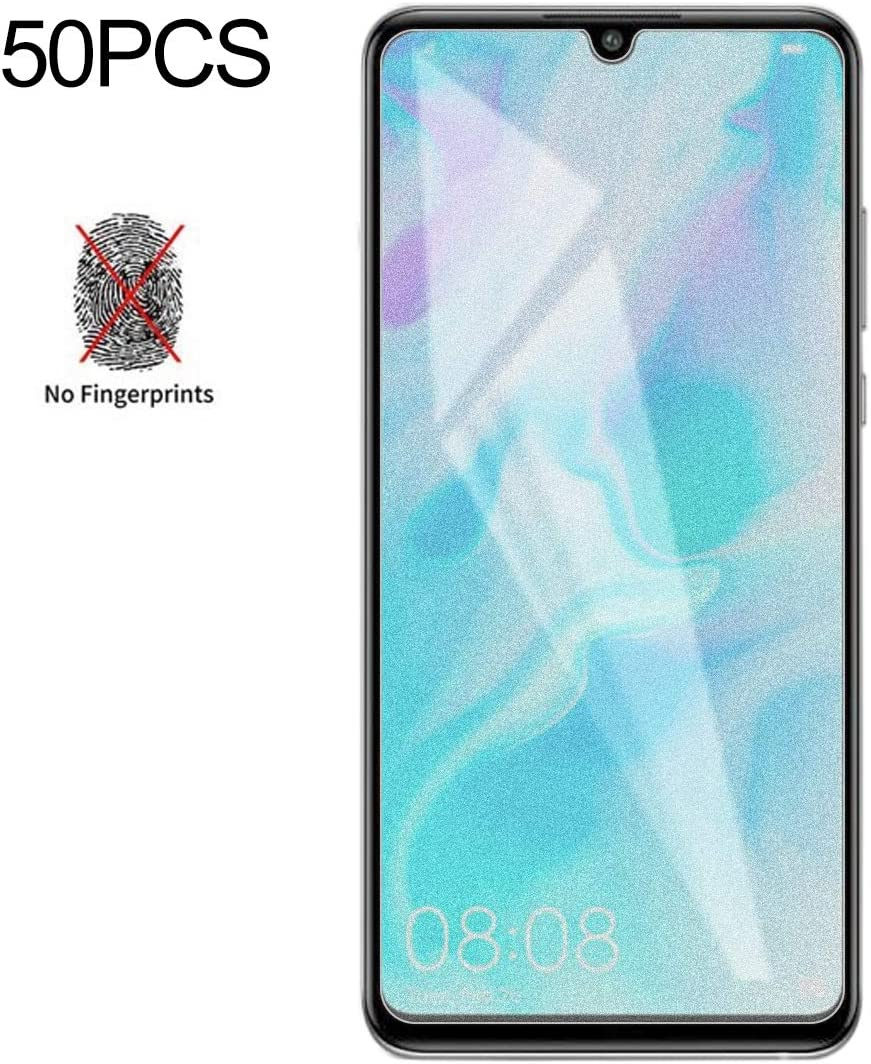 GzPuluz Glass Protector Film 50 PCS Non-Full Matte Frosted Tempered Glass Film for Huawei Mate 20 Lite No Retail Package