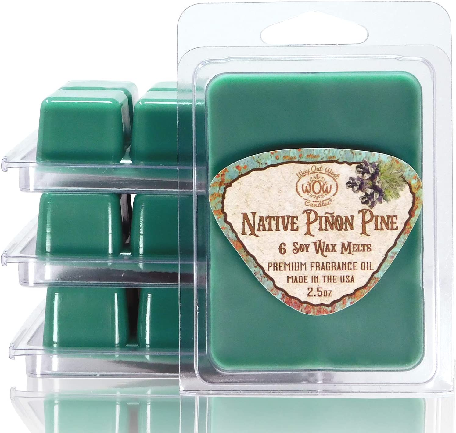 Way Out West Candles - Scented Wax Melts - Highly Fragrant Air Freshener - 4 Pack Set of 6 Melt Cubes (4, Native Piñon Pine)