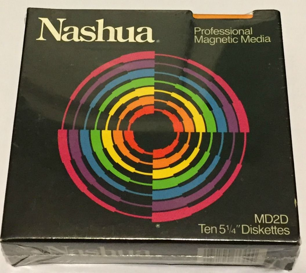 Nashua Professional Magnetic Media MD2D 5 1/4'' Diskettes (10 Pack)