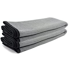 Zwipes Auto 879-2 Professional Microfiber Waffle Drying Towel 25 in. x 36 in 2-Pack