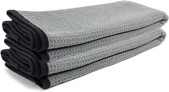 Zwipes Auto 879-2 Professional Microfiber Waffle Drying Towel, 25 in. x 36 in, 2-Pack