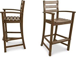 product image for Trex Outdoor Furniture Monterey Bay 2-Piece Bar Chair Set (Tree House)