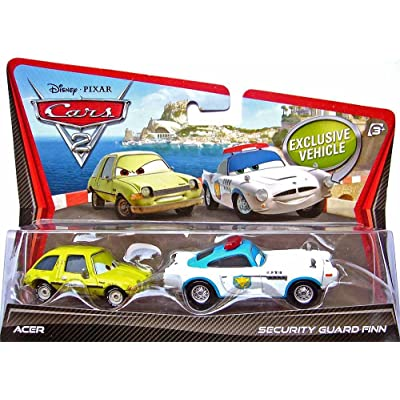 Disney / Pixar CARS 2 Movie 155 Die Cast Car 2Pack Security Guard Finn McMissile Acer: Toys & Games
