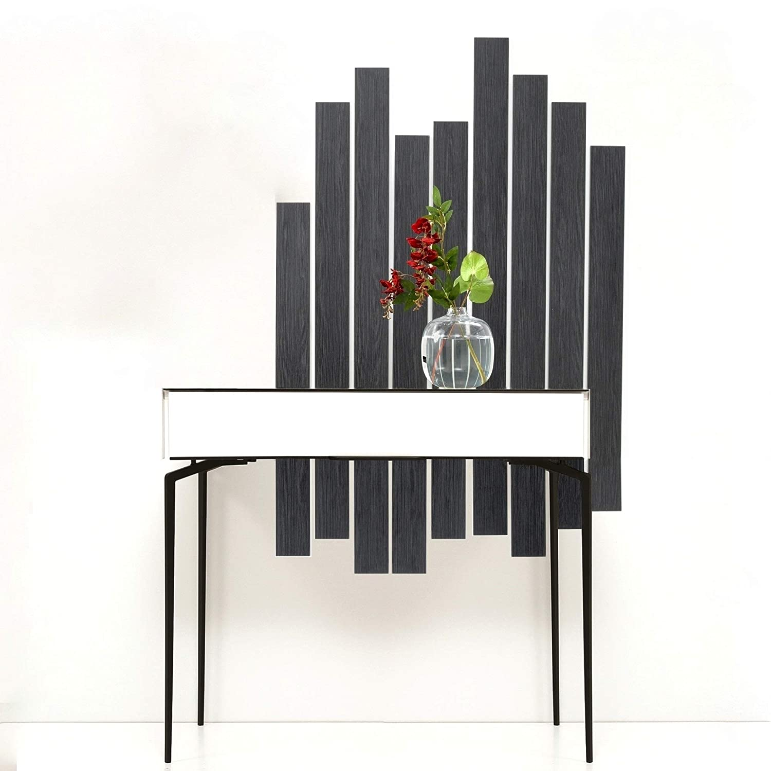Adam and Illy COR1140 CORA Console Table Glam Black//White
